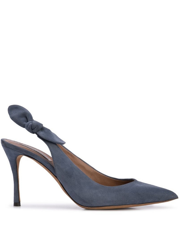 Tabitha Simmons Millie bow slingback pumps in blue