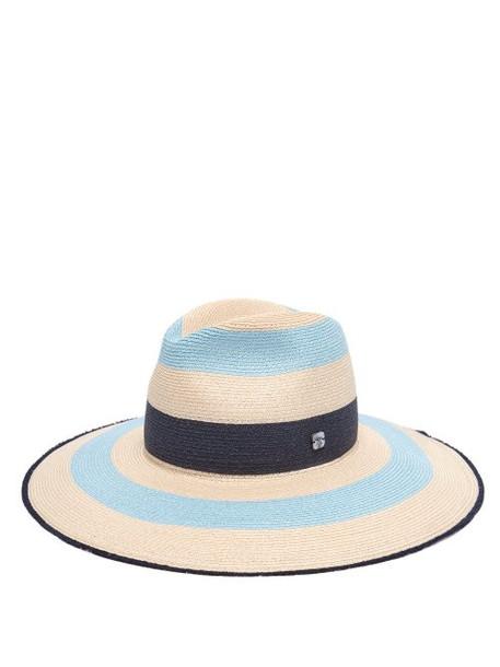 Filù Hats - Fuji Mare Striped Straw Hat - Womens - Blue