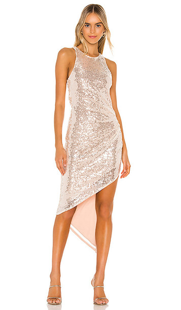 Lovers + Friends Lovers + Friends Rosalee Sequin Gown in Metallic Neitral