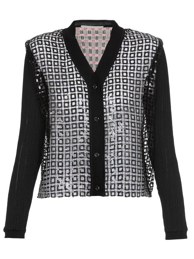 Marco de Vincenzo Knitted Cardigan With Sequins in black