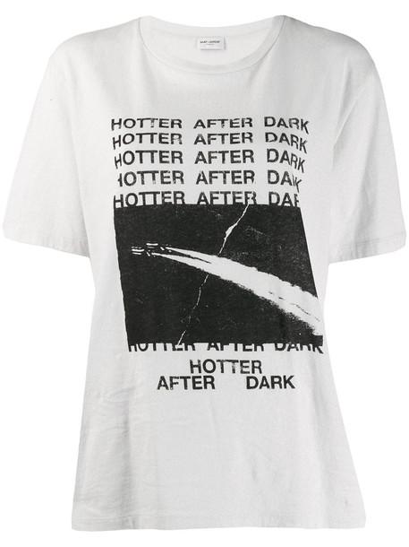 Saint Laurent T-shirt in noir / ecru