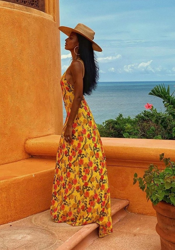 dress floral floral dress flowers jasmine tookes model maxi dress summer dress