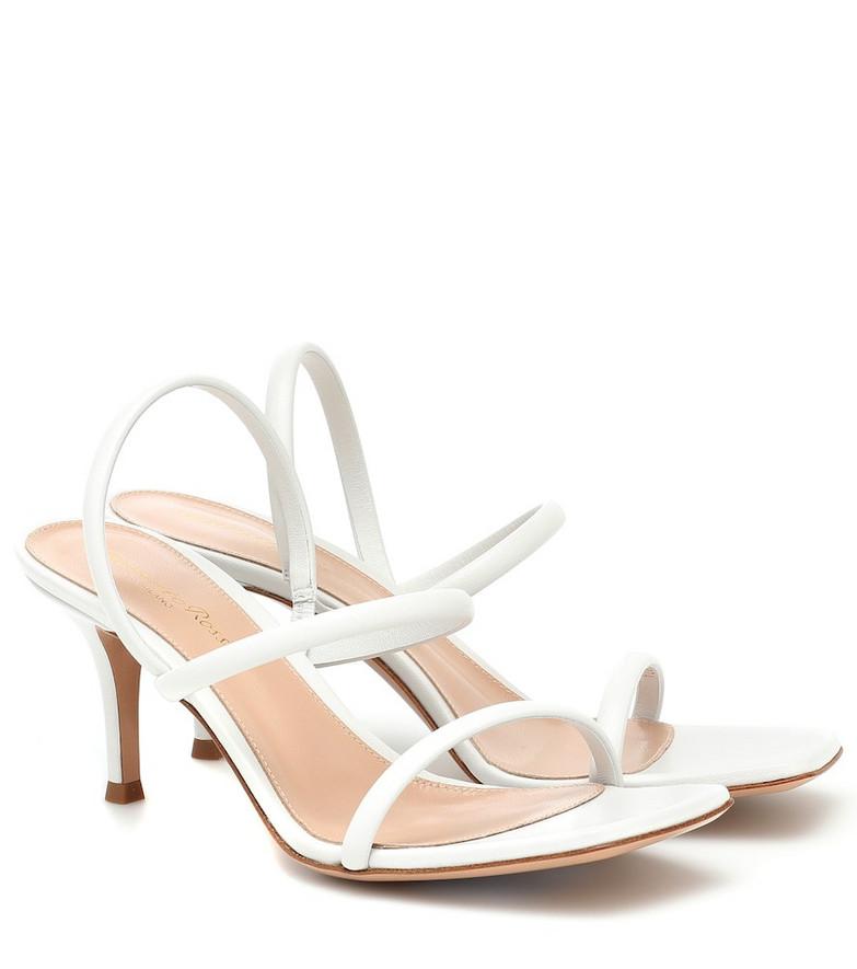 Gianvito Rossi 70 leather sandals in white