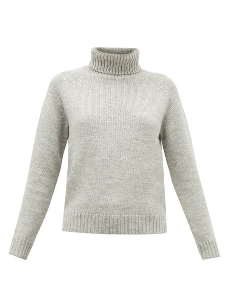 Nili Lotan - William Wool-blend Roll-neck Sweater - Womens - Grey