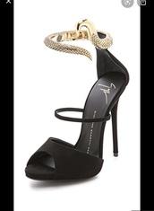 shoes,good,black,snake ankle strap,gold snake,heels,sandals