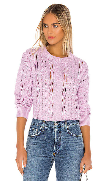 HEARTLOOM Margo Sweater in Purple