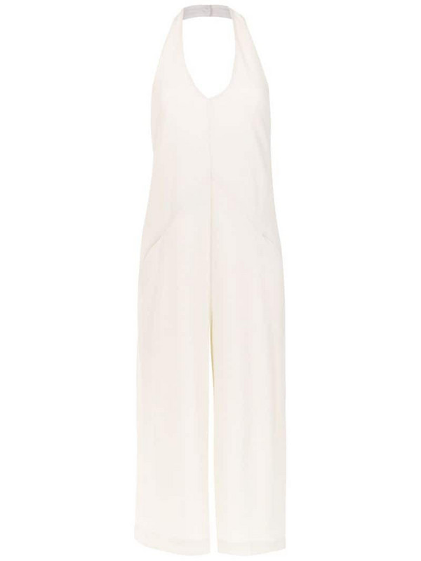 Mara Mac halter neck jumpsuit in white