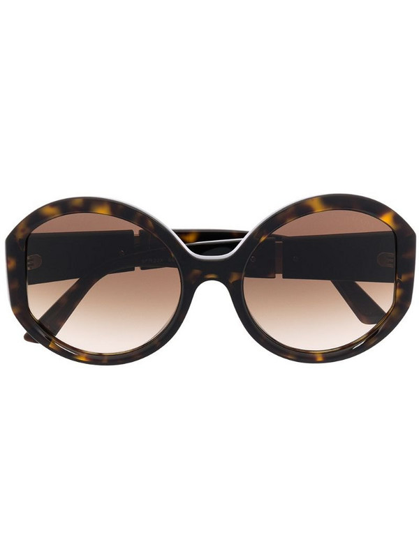 Prada Eyewear oversized logo sunglasses in brown