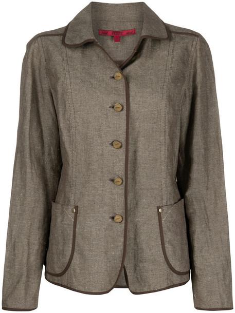 Gianfranco Ferré Pre-Owned 1990s slim-fit jacket in brown