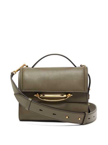 Alexander Mcqueen - The Story Small Leather Bag - Womens - Khaki Multi