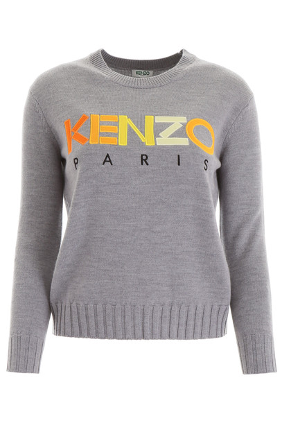 Kenzo Logo Patch Pullover in grey