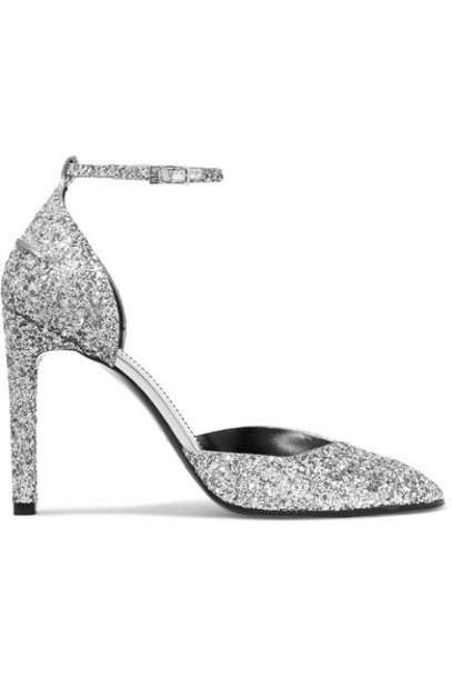 Givenchy - Glittered Leather Pumps - Silver