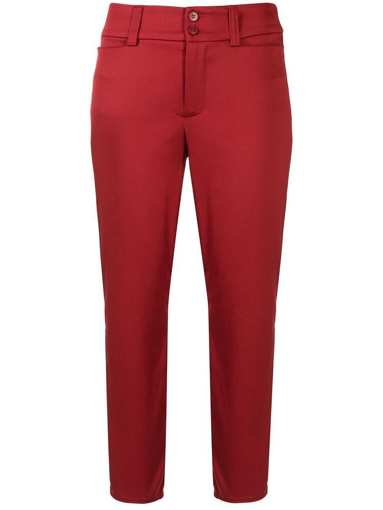 agnès b. agnès b. straight-leg cropped trousers - Red