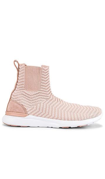 APL: Athletic Propulsion Labs TechLoom Chelsea Sneaker in Pink