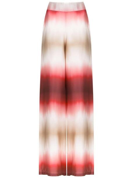 Amir Slama silk tie dye trousers in red