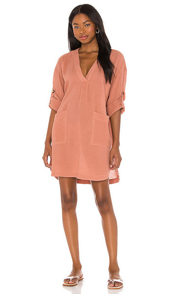Seafolly Essential Cover Up Dress in Mauve in rose