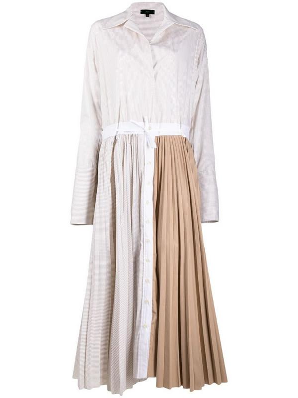 Jejia pleated shirt dress in neutrals