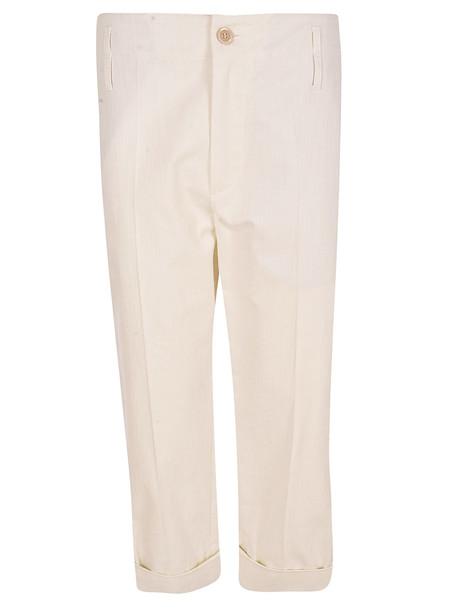 Brunello Cucinelli Cropped Trousers in white