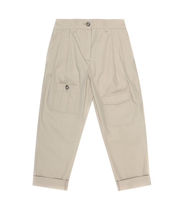 Dolce & Gabbana Kids Cotton pants in beige