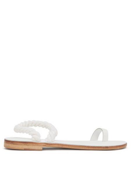 Álvaro Álvaro - Angela Rope-strap Leather Sandals - Womens - White