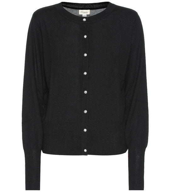 Temperley London Busby merino and cashmere cardigan in black