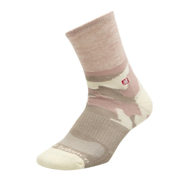 New Balance 20361 Women's Womens Camo Short Crew Sock 1 Pair - White (LAS20361WT)