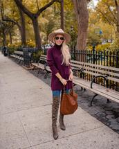 katie's bliss - a personal style blog based in nyc,blogger,sweater,jeans,shoes,bag,hat,sunglasses,jewels,turtleneck sweater,over the knee boots,fall colors,fall outfits