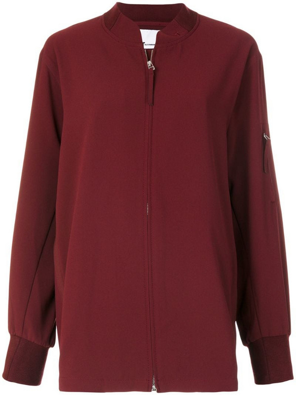 T By Alexander Wang oversized bomber jacket in red