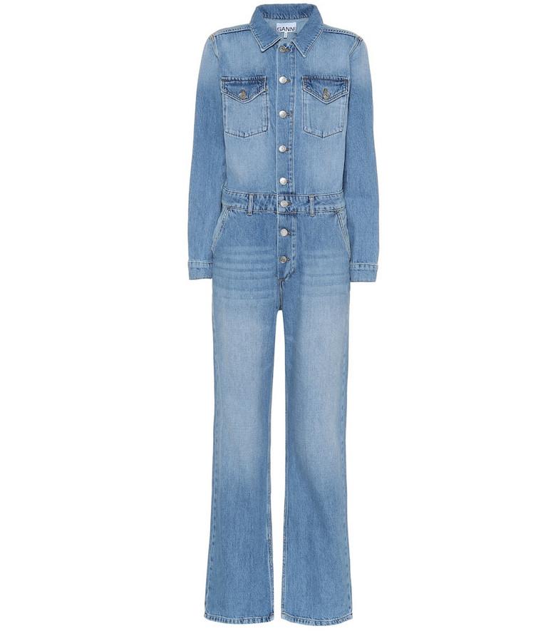 Ganni Denim jumpsuit in blue