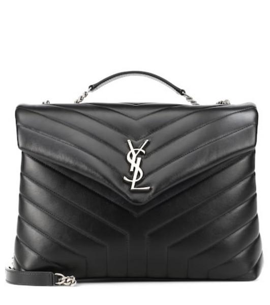 Saint Laurent Loulou Monogram Medium shoulder bag in black