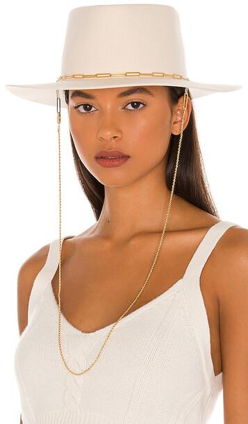 Van Palma Ulysse Bi-Chain Hat in Cream in white