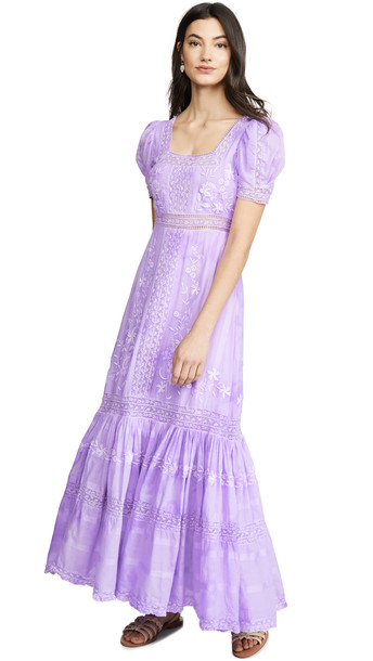 LOVESHACKFANCY Ryan Dress in lavender