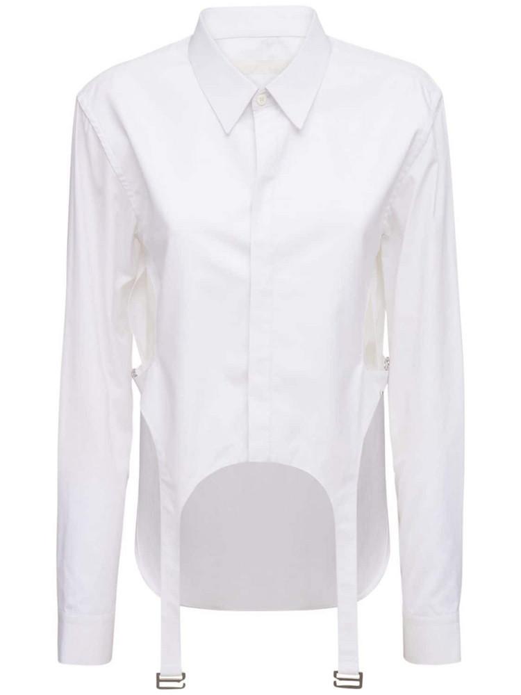 DION LEE Cotton Poplin Cutout Shirt in white