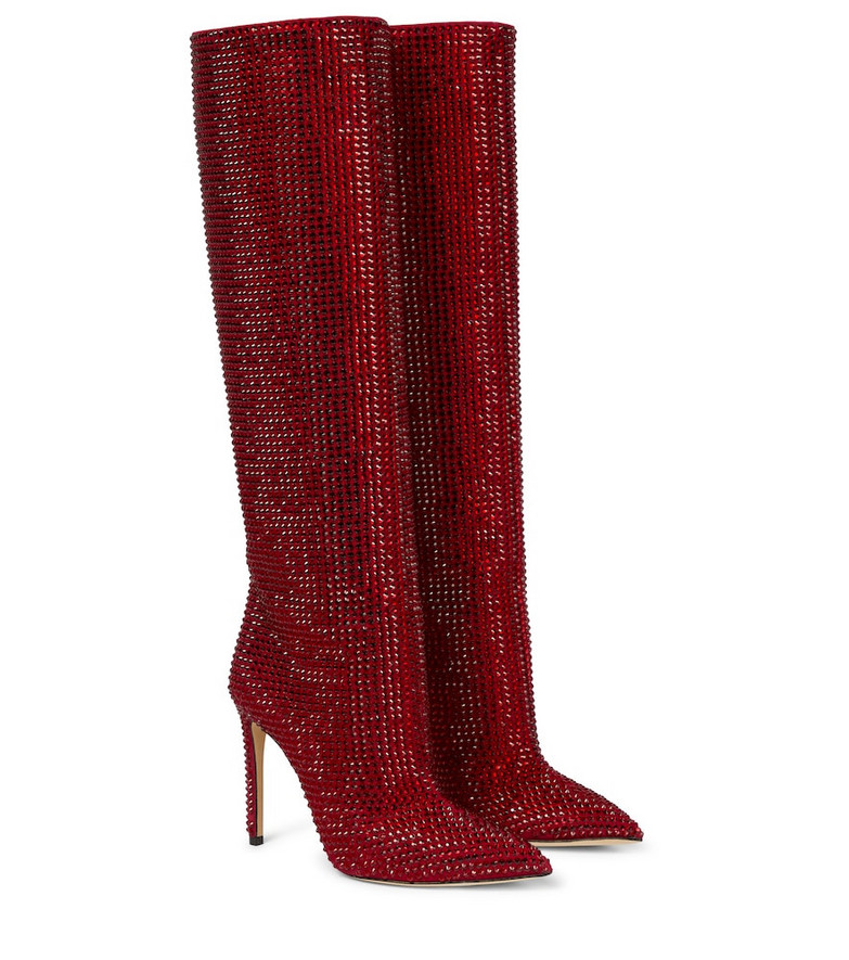 Paris Texas Holly suede knee-high boots in red