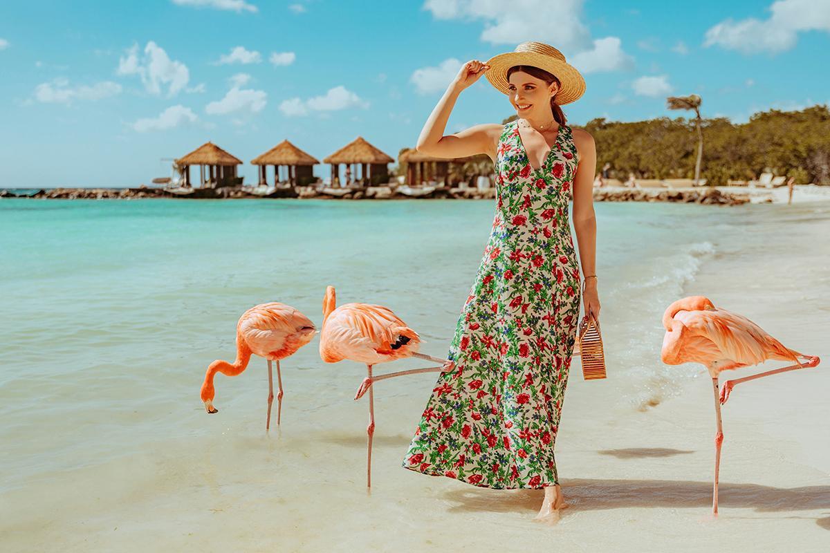 the mysterious girl blogger dress hat bag summer dress maxi dress printed dress