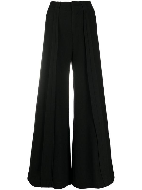 Andrea Ya'aqov wide leg wool trousers in black