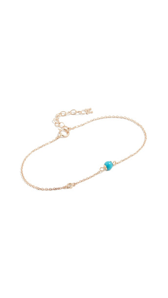 Mateo 14k Turquoise and Diamond Chain Bracelet