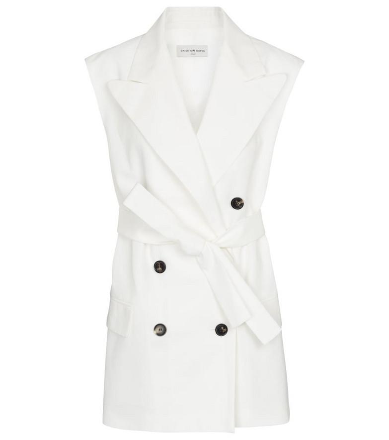 Dries Van Noten Cotton-blend blazer in white
