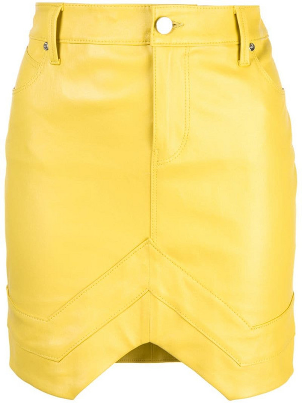 RtA fitted mini skirt in yellow