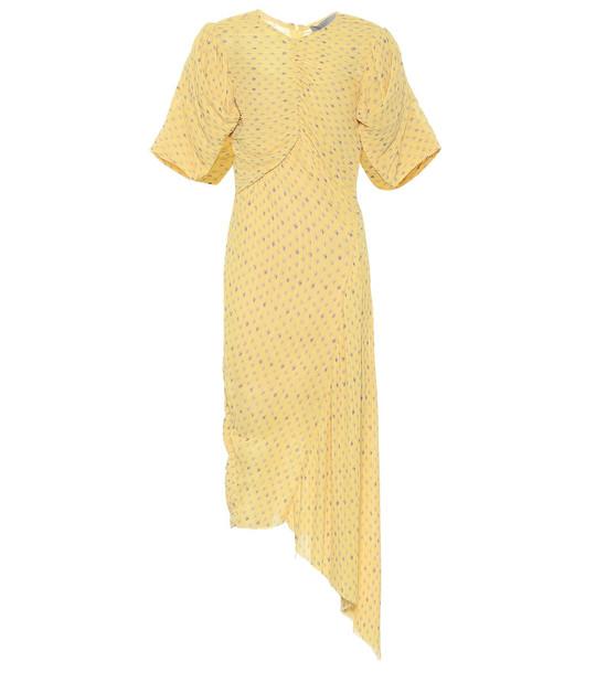 Preen by Thornton Bregazzi Jenny floral georgette dress in yellow
