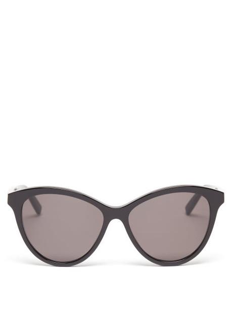 Saint Laurent - Cat-eye Acetate Sunglasses - Womens - Black