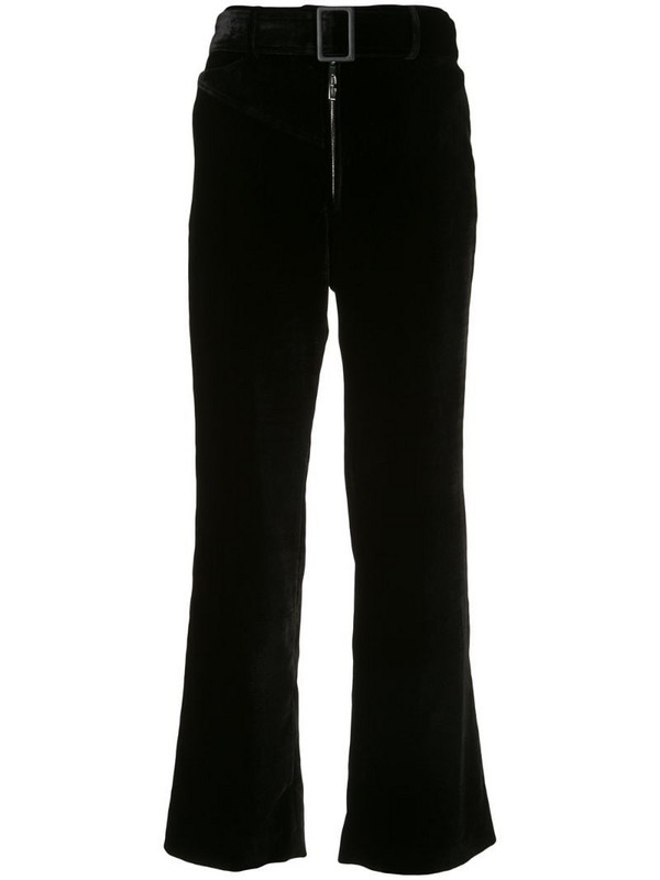 Ellery Supervision belted flared trousers in black