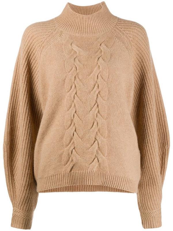 Steffen Schraut cable-knit cashmere jumper in neutrals