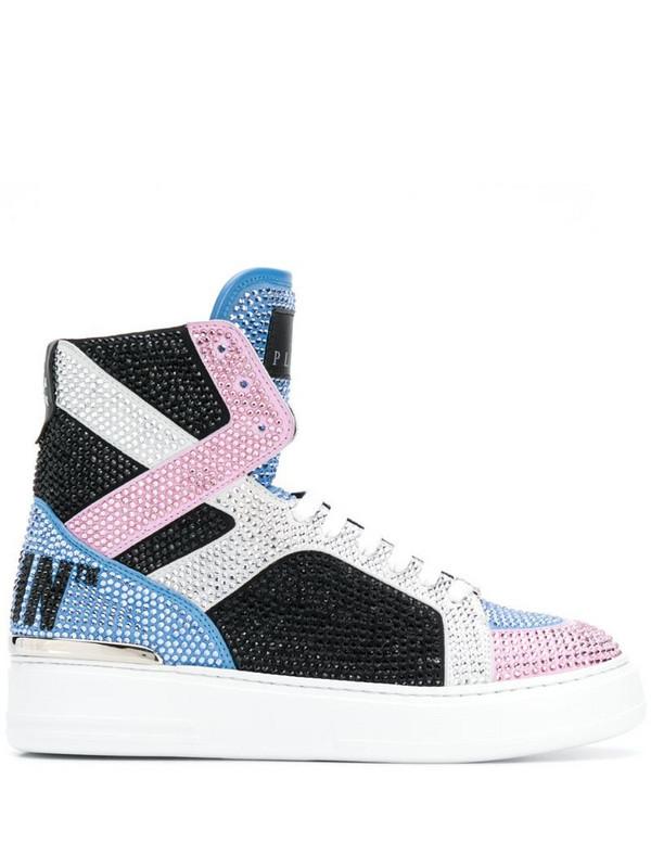 Philipp Plein crystal-embellished high-top sneakers in black