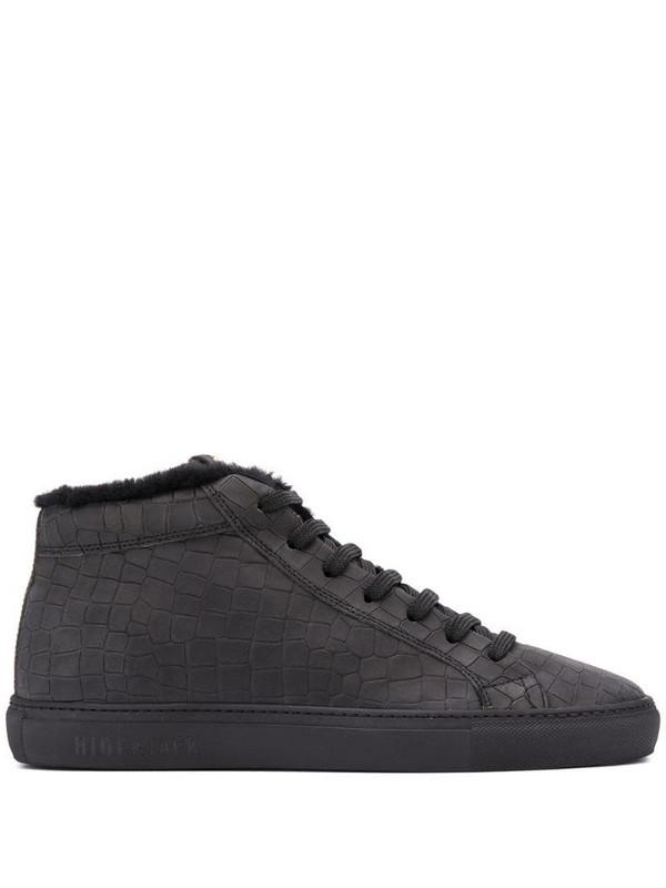 Hide&Jack shearling-lined high-top sneakers in black