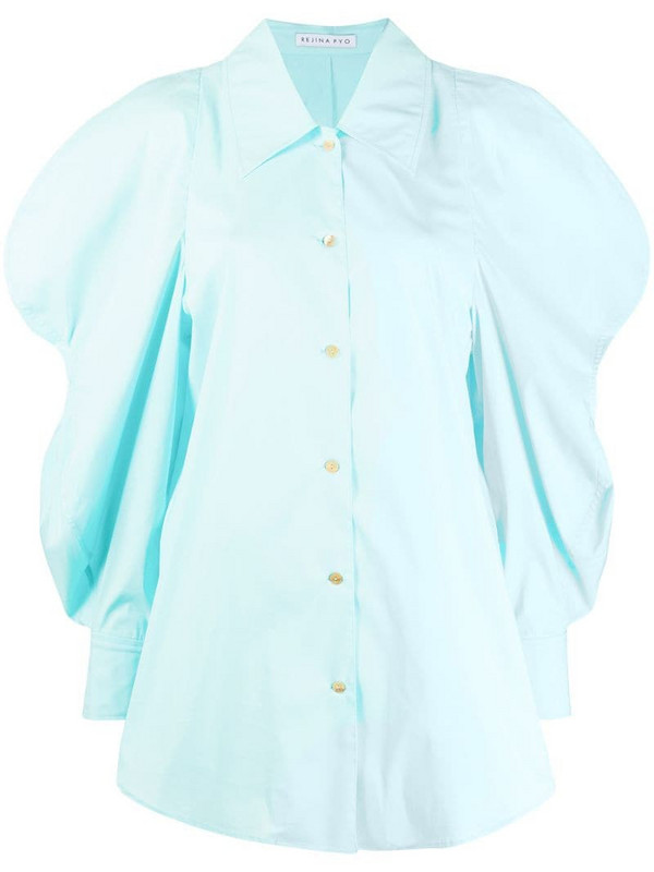 Rejina Pyo long exaggerated sleeves shirt in blue