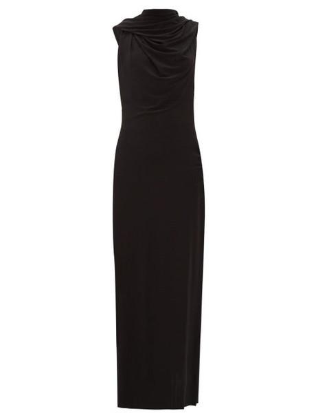 Norma Kamali - Neeta V Neck Hooded Maxi Dress - Womens - Black