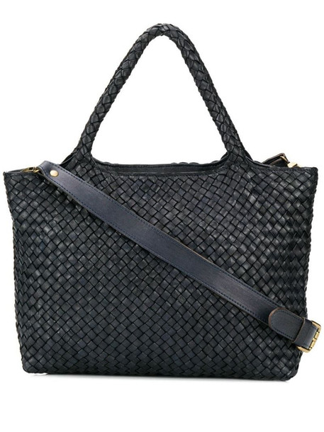 Officine Creative woven tote bag in black