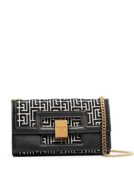 Balmain jacquard shoulder bag - Black