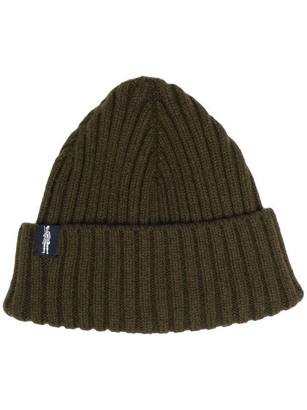 Mackintosh KEMET ribbed beanie in green